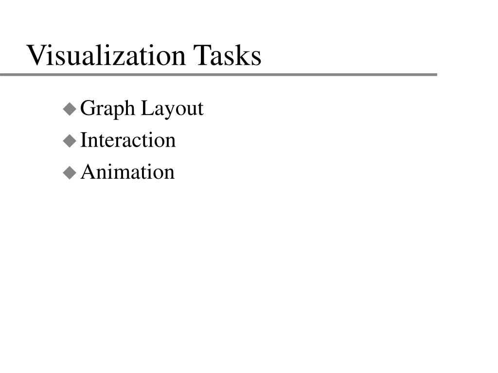 Visualization Tasks