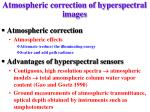 atmospheric correction of hyperspectral images