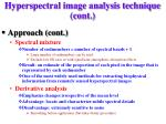 hyperspectral image analysis technique cont1