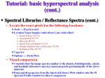 tutorial basic hyperspectral analysis cont2