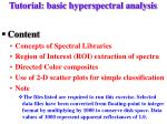 tutorial basic hyperspectral analysis