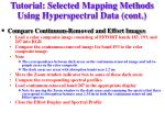 tutorial selected mapping methods using hyperspectral data cont11