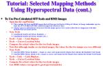 tutorial selected mapping methods using hyperspectral data cont13