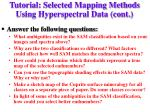 tutorial selected mapping methods using hyperspectral data cont5