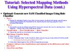tutorial selected mapping methods using hyperspectral data cont6
