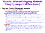 tutorial selected mapping methods using hyperspectral data cont7