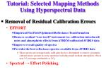 tutorial selected mapping methods using hyperspectral data