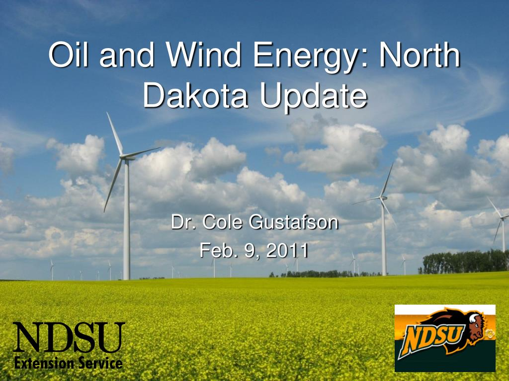 oil and wind energy north dakota update l.