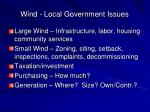 wind local government issues