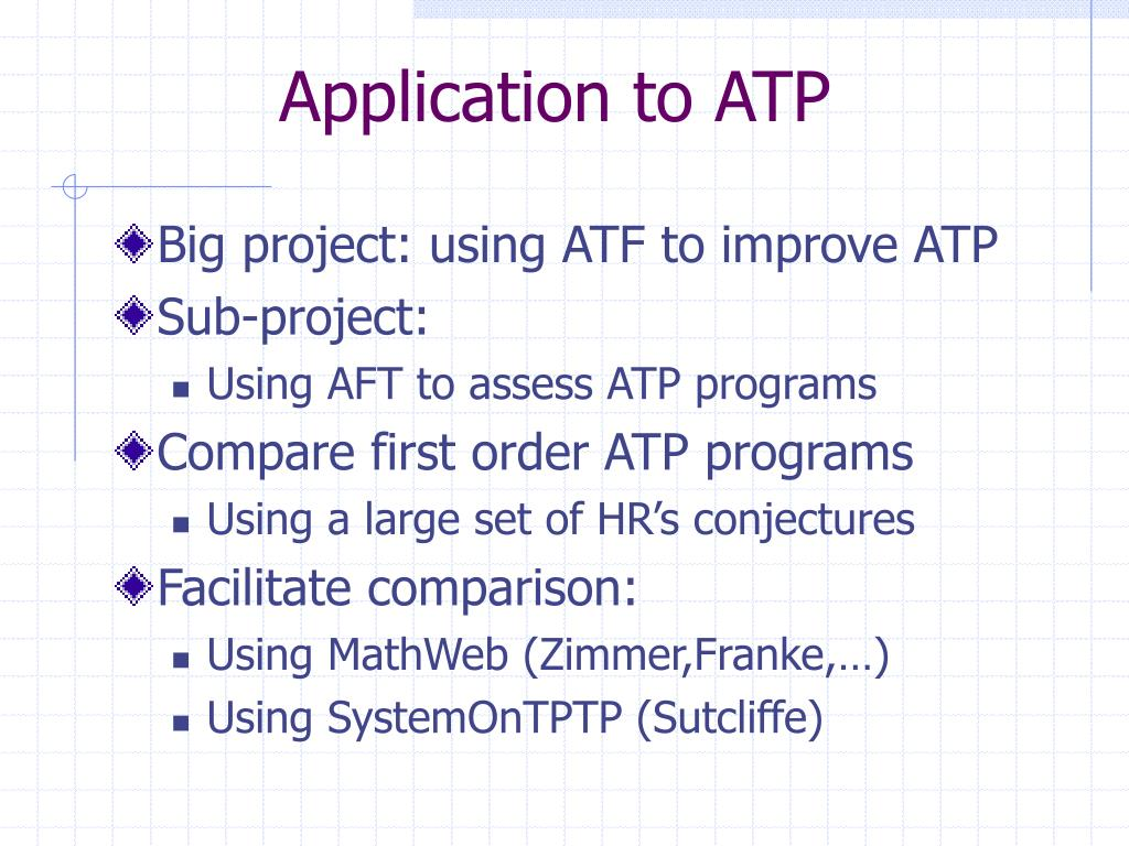 Application to ATP