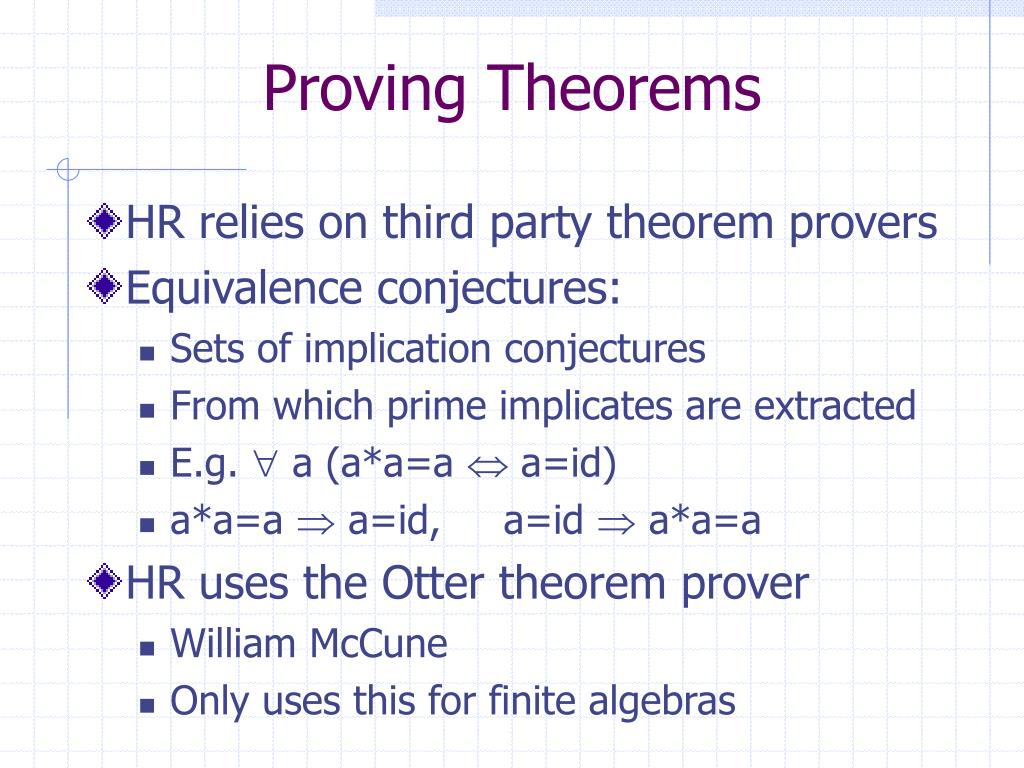 Proving Theorems