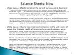 balance sheets now