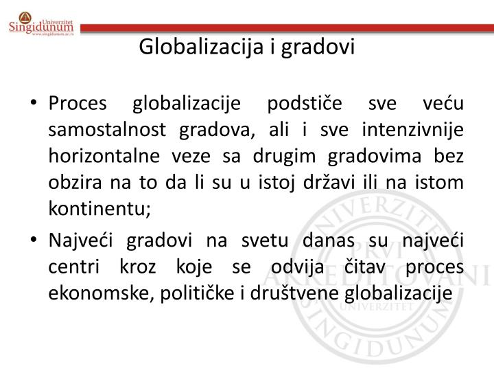 Globalizacija i gradovi