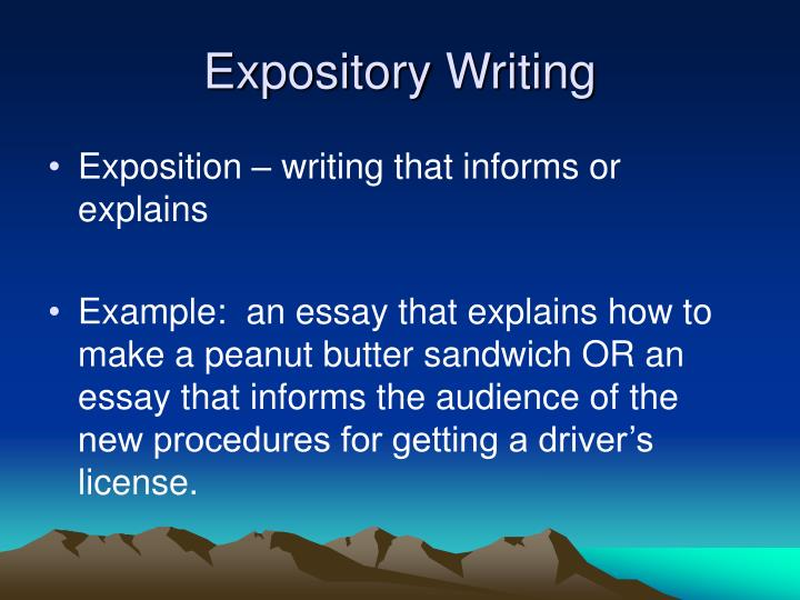 exposition in writing