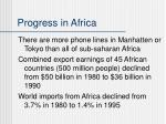 progress in africa