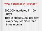 what happened in rwanda