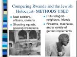 comparing rwanda and the jewish holocaust methods used