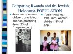 comparing rwanda and the jewish holocaust population