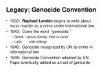 legacy genocide convention