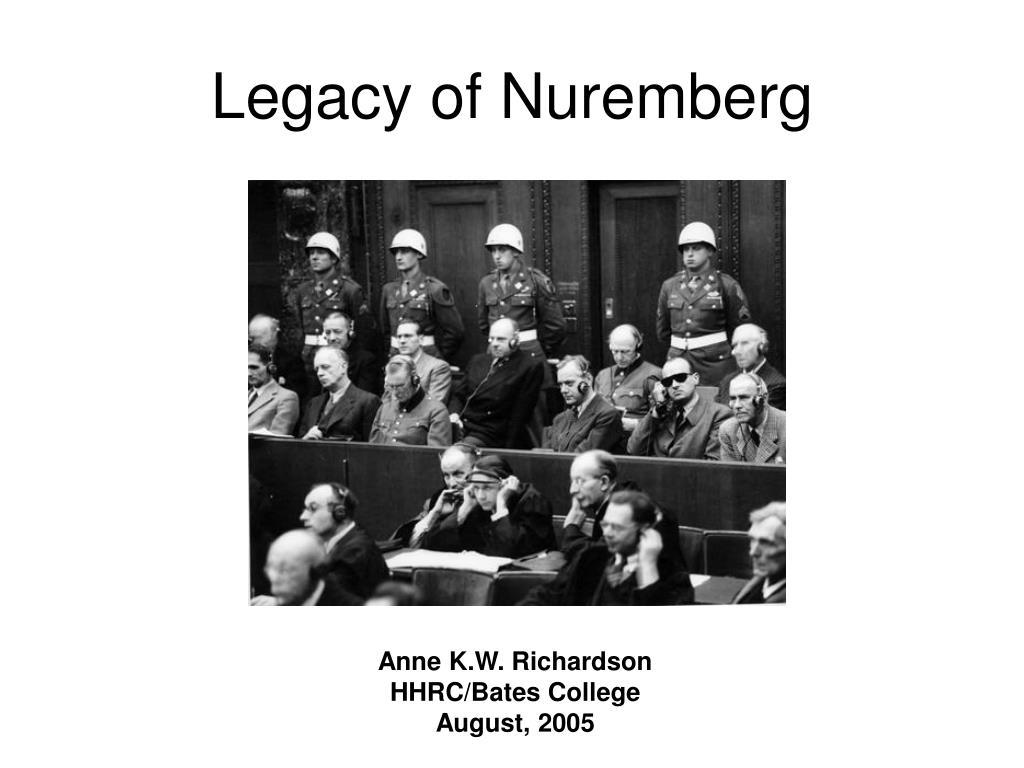 legacy of nuremberg l.