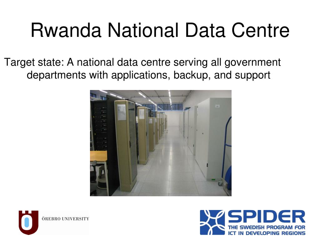 Target state: A national data centre serving all government departments with applications, backup, and support