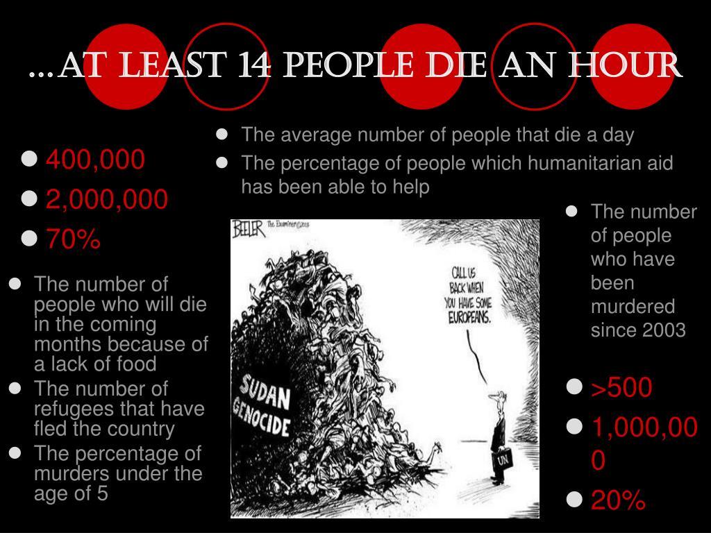 …at least 14 people die an hour
