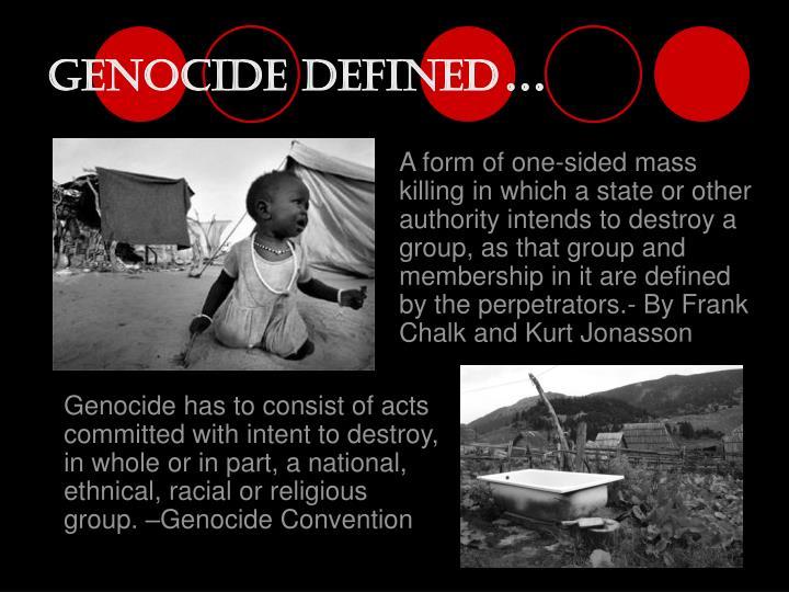 Genocide defined
