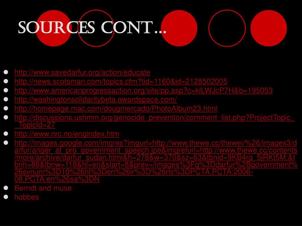 Sources cont…
