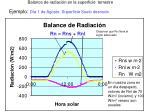balance de radiaci n en la superficie terrestre