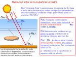 radiaci n solar en la superficie terrestre