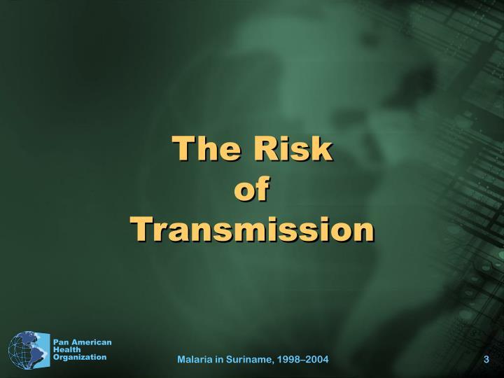 The risk of transmission