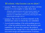 bi reform what lessons can we draw16