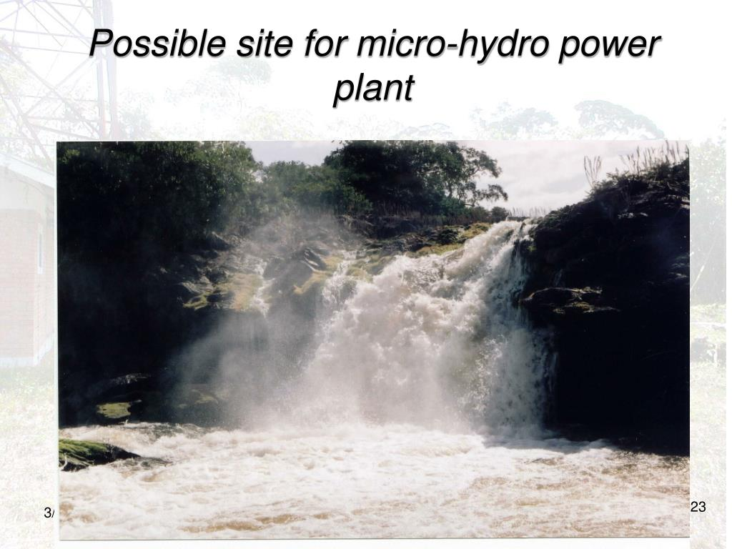 Possible site for micro-hydro power plant