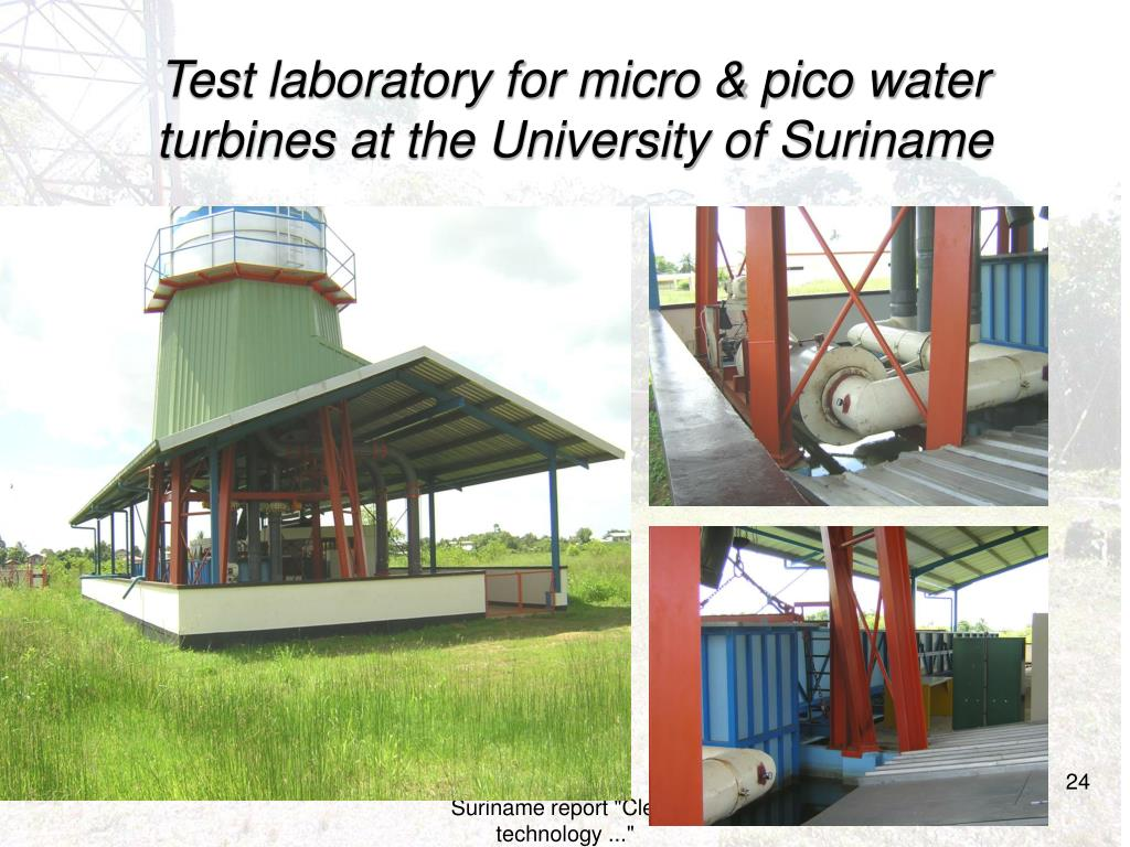 Test laboratory for micro & pico water turbines at the University of Suriname