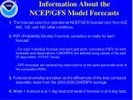 information about the ncep gfs model forecasts