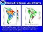 rainfall patterns last 90 days