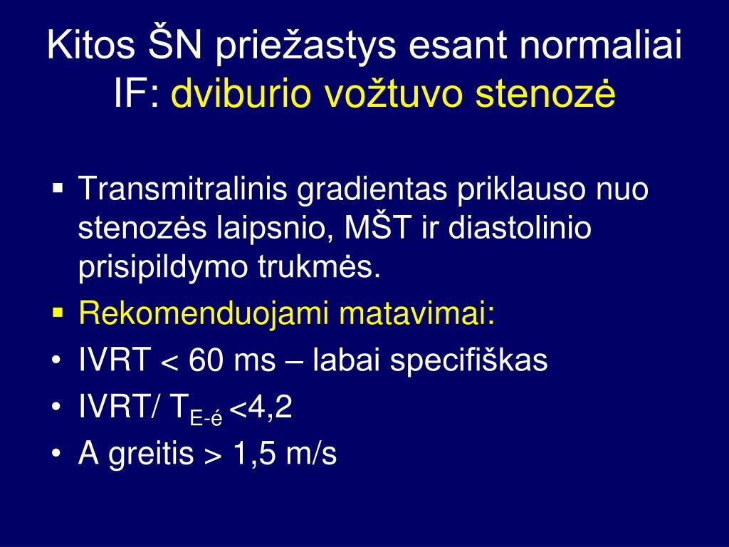 Hipertenzija 1 laipsnio rizika 2 - Tachikardija