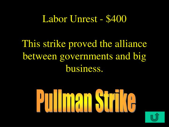 Labor Unrest - $400