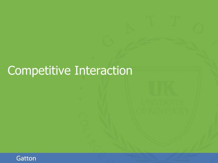competitive interaction n.