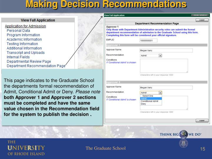 Making Decision Recommendations