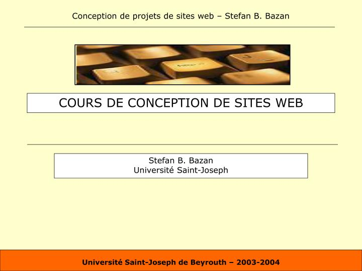 cours de conception de sites web n.