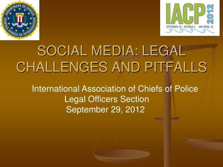 social media legal challenges and pitfalls n.