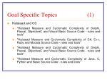 goal specific topics 1