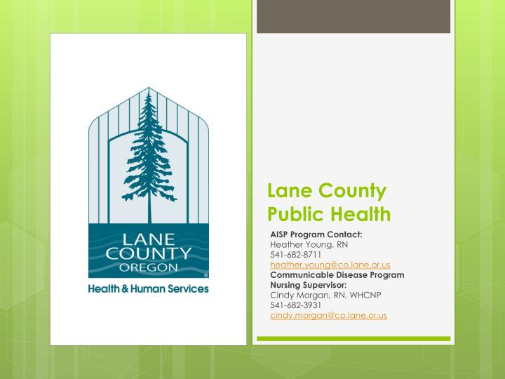 Lane county public health