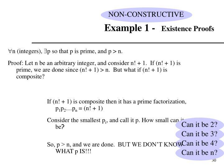 NON-CONSTRUCTIVE
