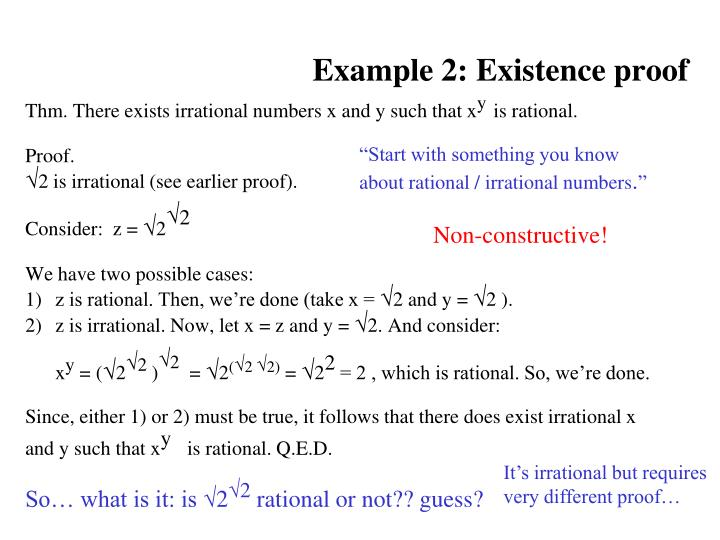 Example 2: Existence proof