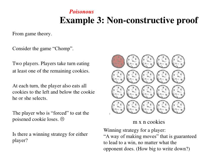 Example 3: Non-constructive proof