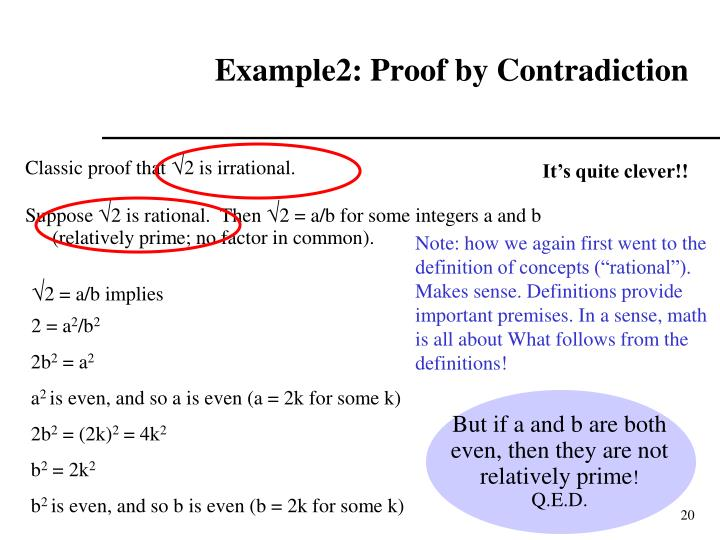 But if a and b are both even, then they are not relatively prime