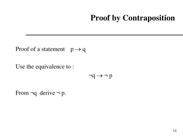 Proof by Contraposition