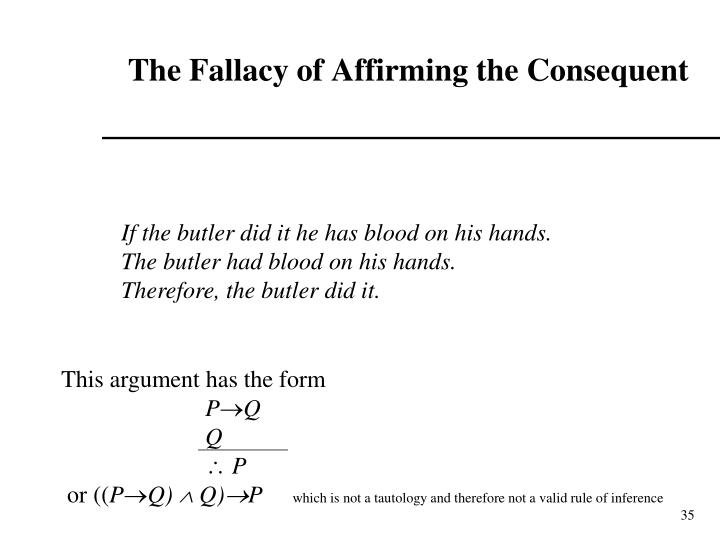 The Fallacy of Affirming the Consequent